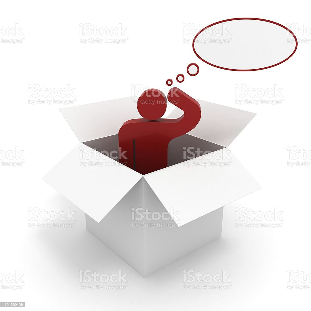 Think out of the Box royalty-free stock photo