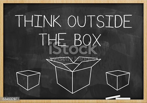 istock Think outside the box / Blackboard (Click for more) 534532971