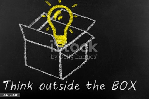 istock Think outside the box concept 900130684