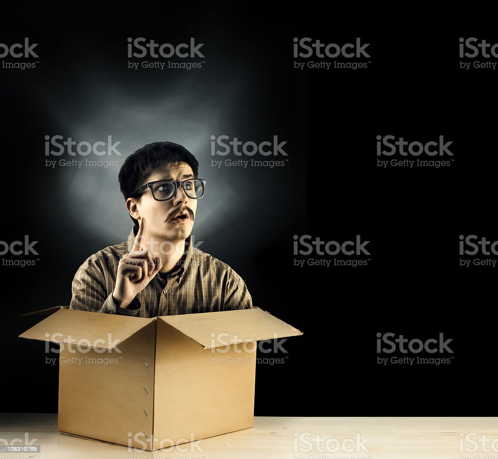 Think outside the box royalty-free stock photo