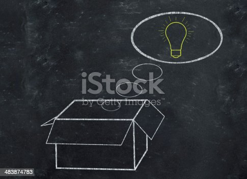 istock Think outside the box 483874783