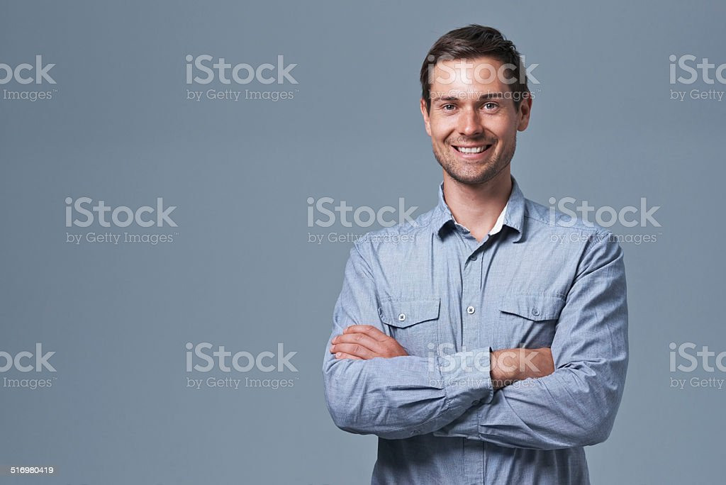 Think positive and positive things will happen stock photo