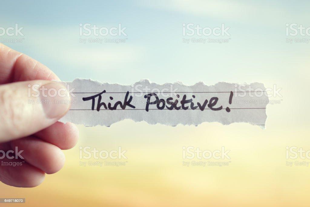 Denk positief foto