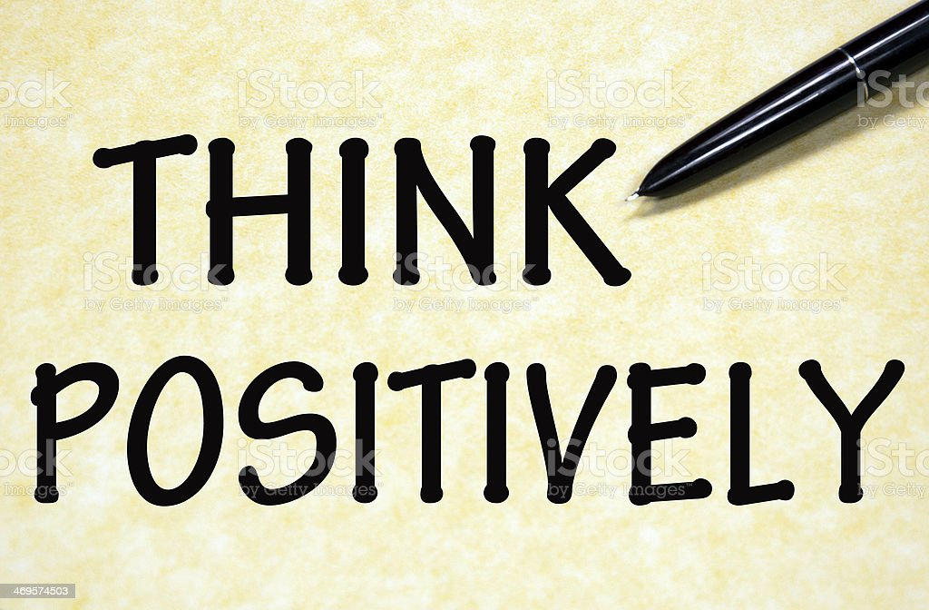 think positively sign stock photo