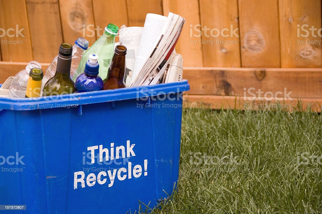 Think Recycle! royalty-free stock photo