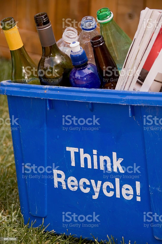 Think Recycle! stock photo