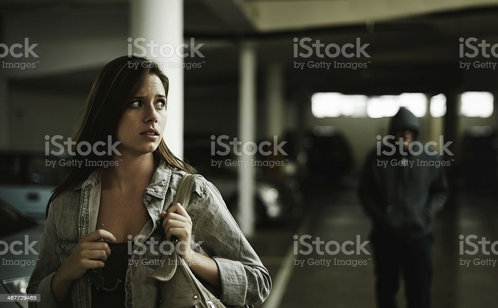 I think that guy is following me... stock photo