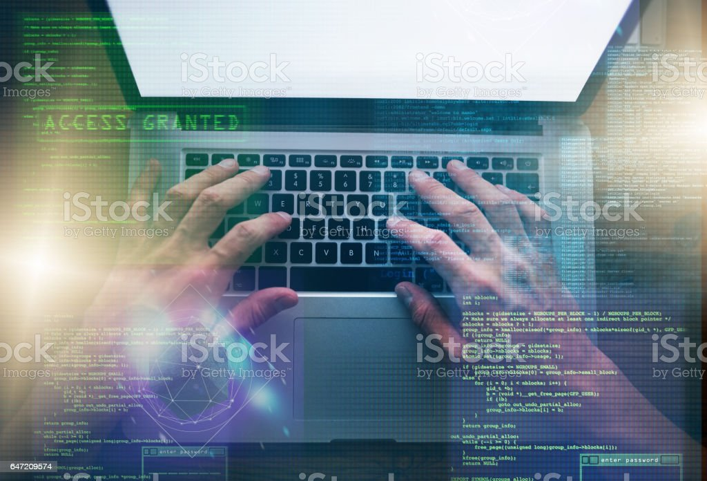 Think twice, code once stock photo