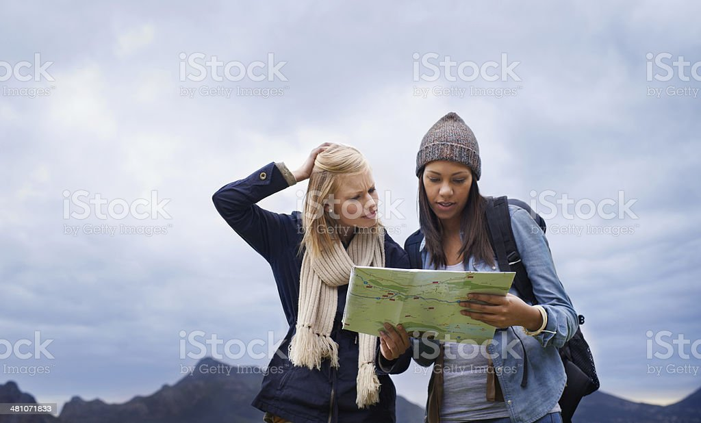 I think we might be lost... stock photo