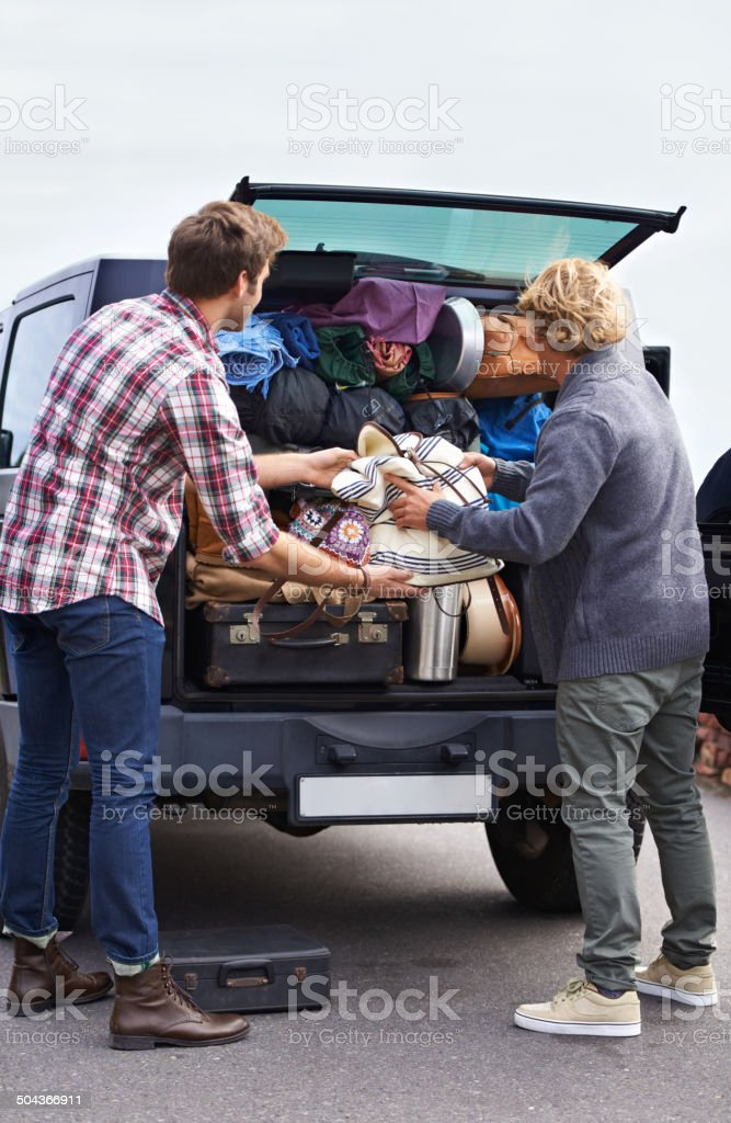 I think we need a bigger van stock photo