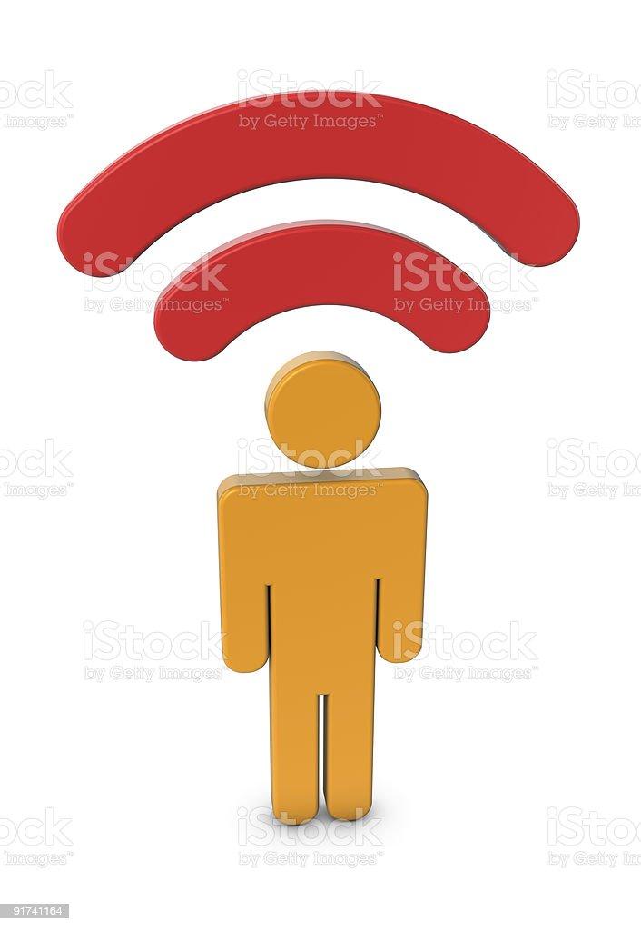 Think wireless! royalty-free stock photo