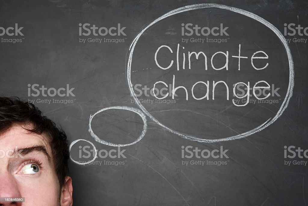 Thinking about climate change royalty-free stock photo