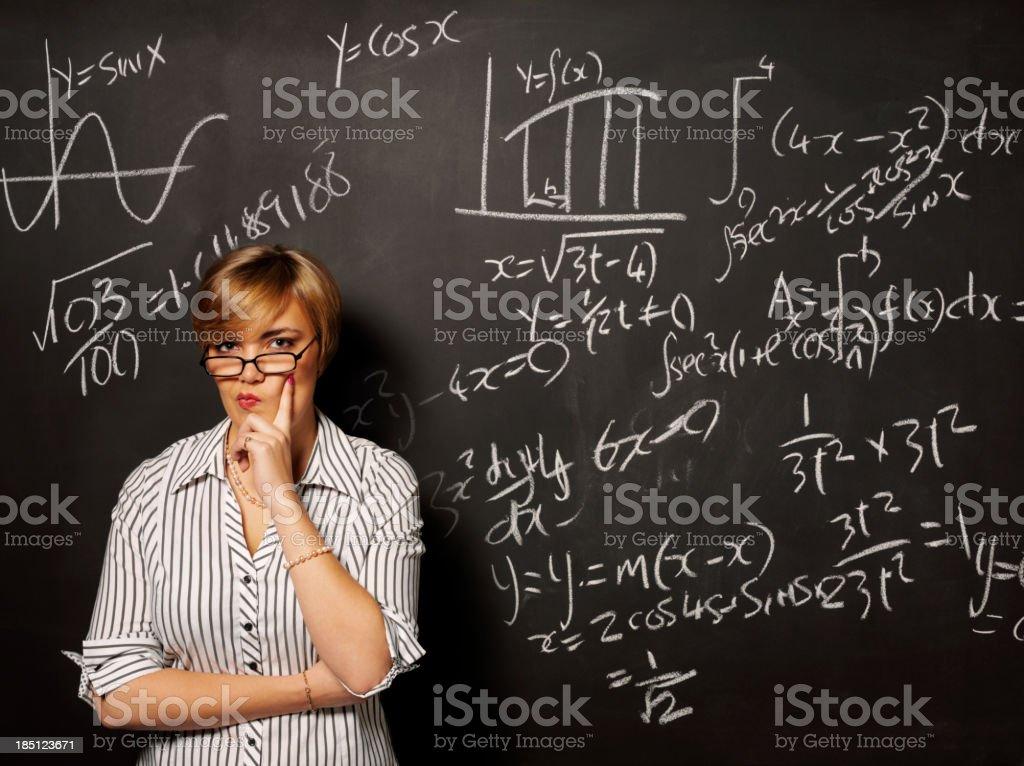 Thinking about Mathematics royalty-free stock photo