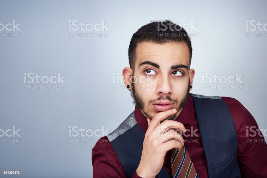 Thinking about my next business move royalty-free stock photo