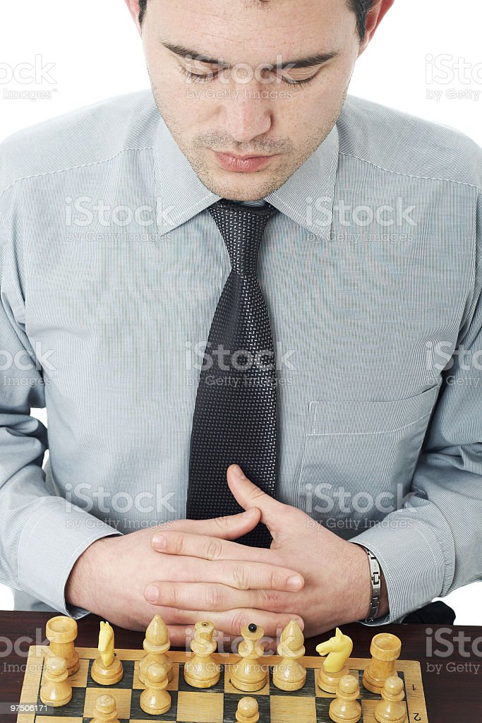 thinking about next move royalty-free stock photo