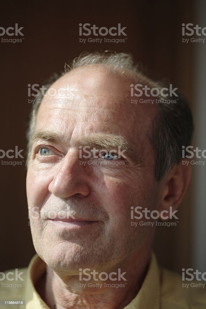 thinking about past royalty-free stock photo