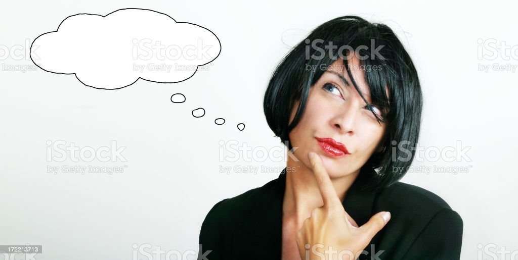 Thinking about.... royalty-free stock photo