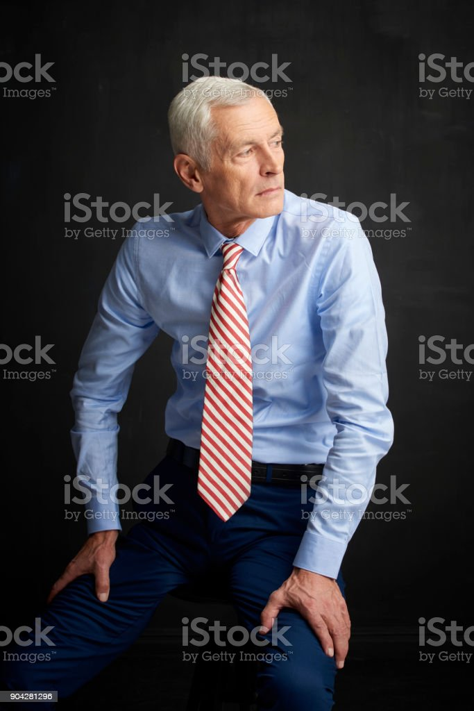 Thinking about the future stock photo