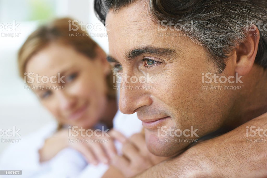 Thinking about their future stock photo