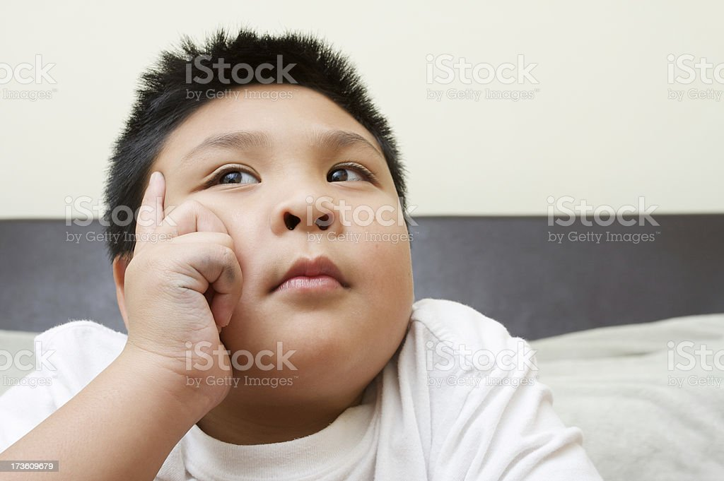 thinking boy royalty-free stock photo