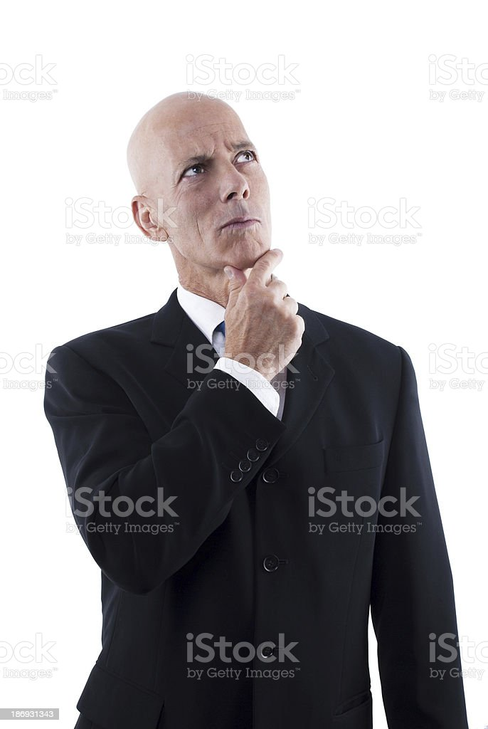 Thinking Business Man royalty-free stock photo