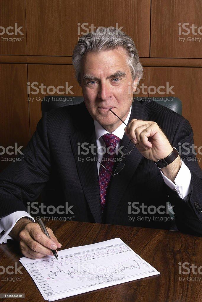 Thinking Businessman royalty-free stock photo