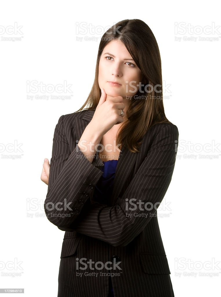 thinking businesswoman royalty-free stock photo