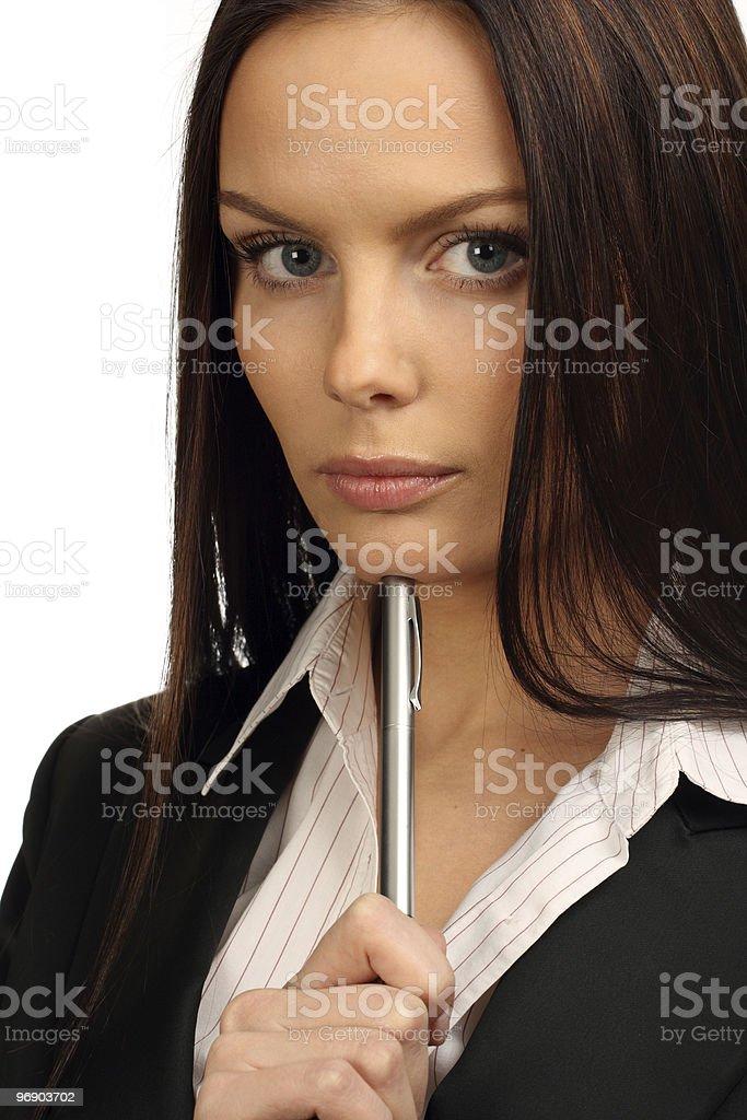 Thinking Businesswoman. royalty-free stock photo