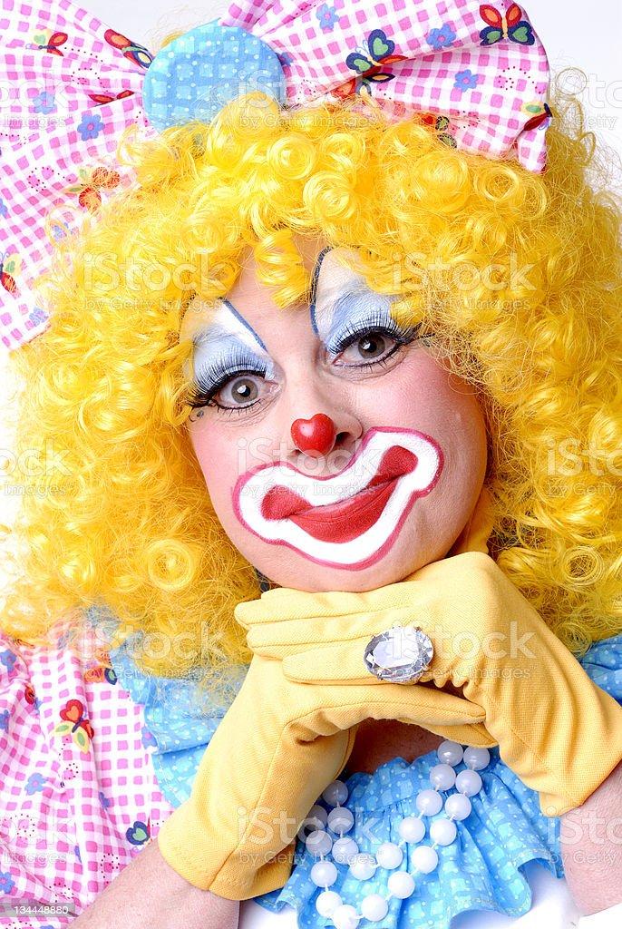 Thinking Clown royalty-free stock photo