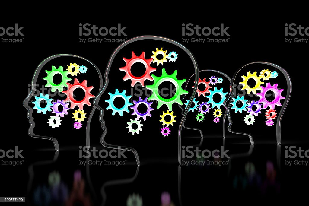 3D thinking concept stock photo