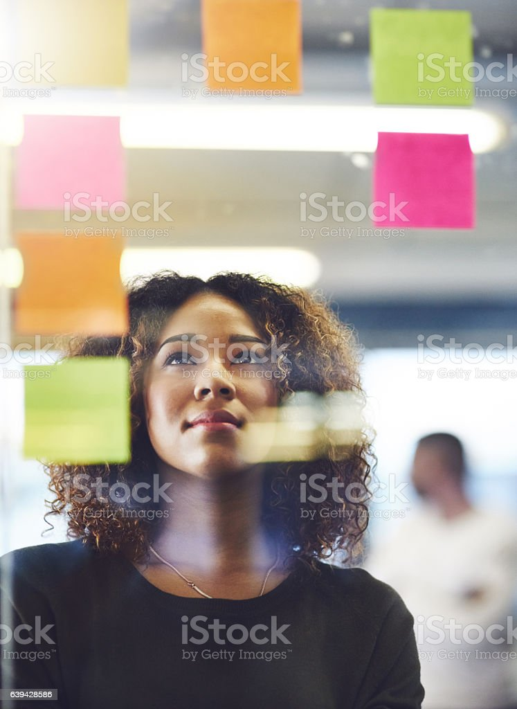 Thinking critically to create success stock photo