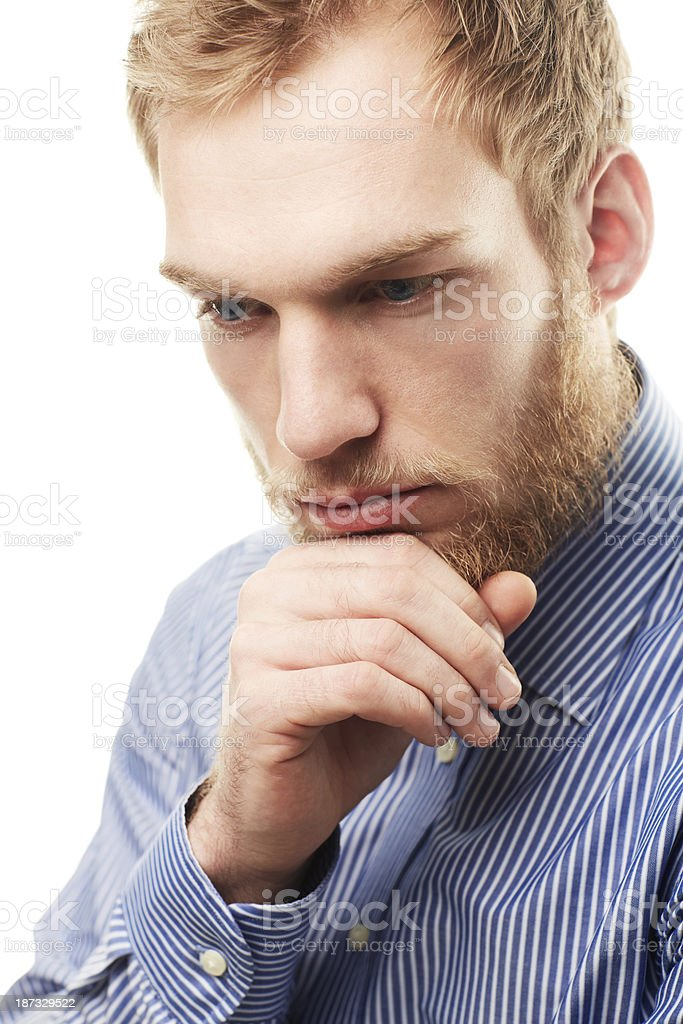 Thinking deeply royalty-free stock photo