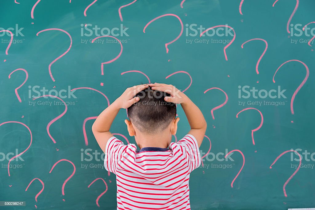 thinking for solution stock photo