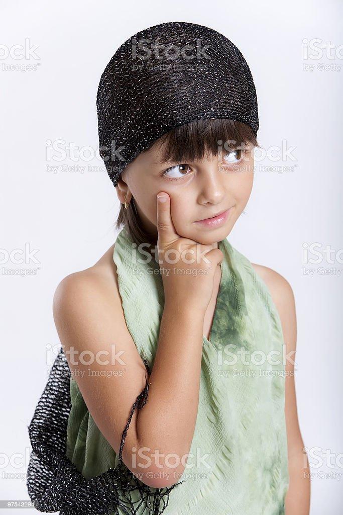 Pensant fille photo libre de droits