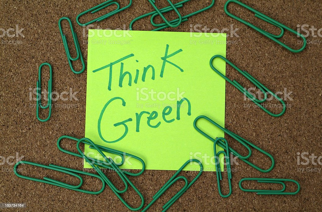 thinking green innovation and ideas royalty-free stock photo