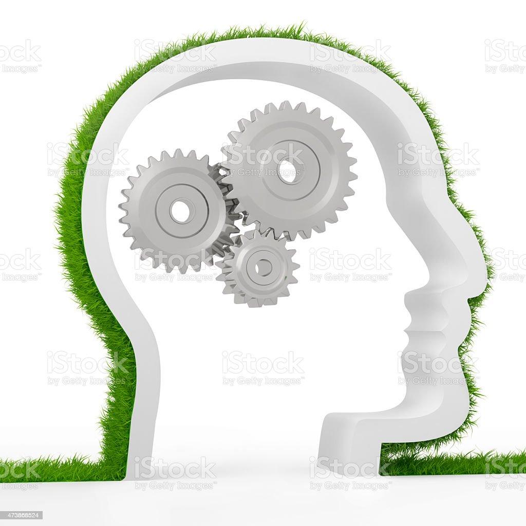 Thinking head stock photo