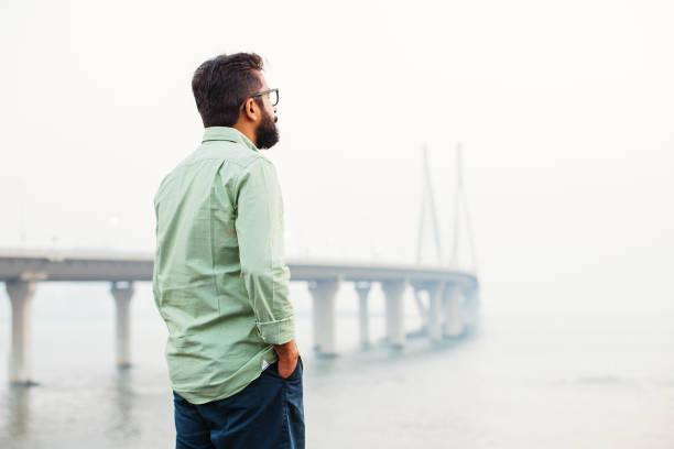 Thinking in mumbai stock photo
