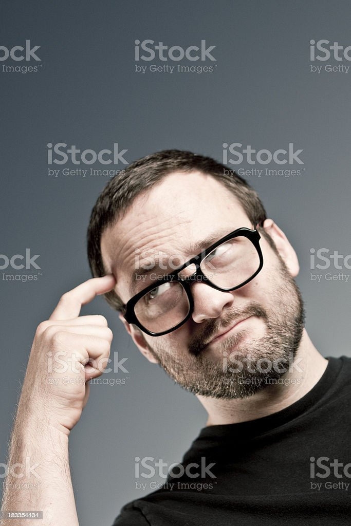 Thinking It Over royalty-free stock photo