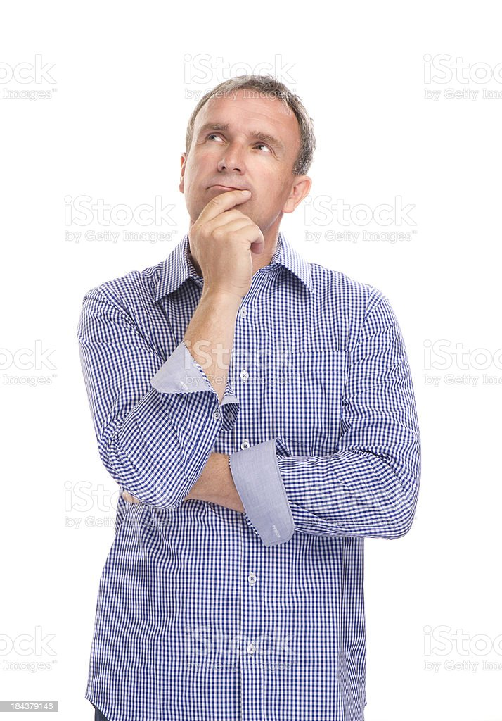 thinking man stock photo