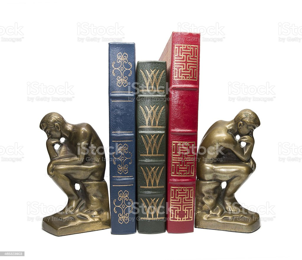 Thinking Man's Bookends stock photo