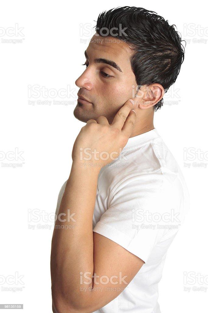 Thinking melancholy man royalty-free stock photo