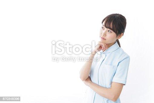istock thinking nurse 870348396