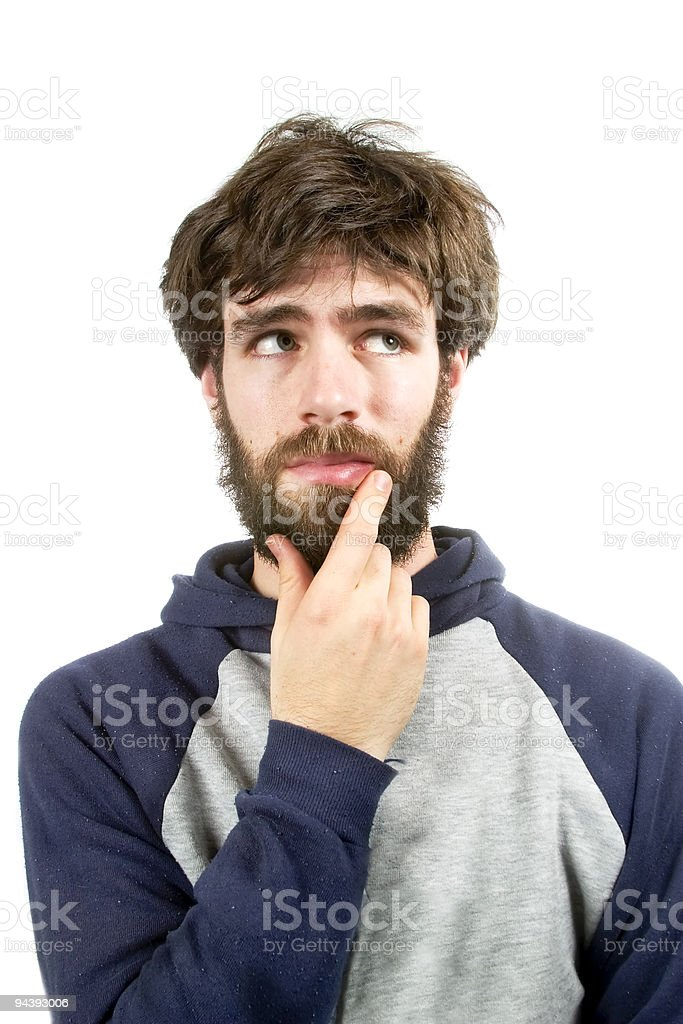 Thinking of a Good Idea royalty-free stock photo