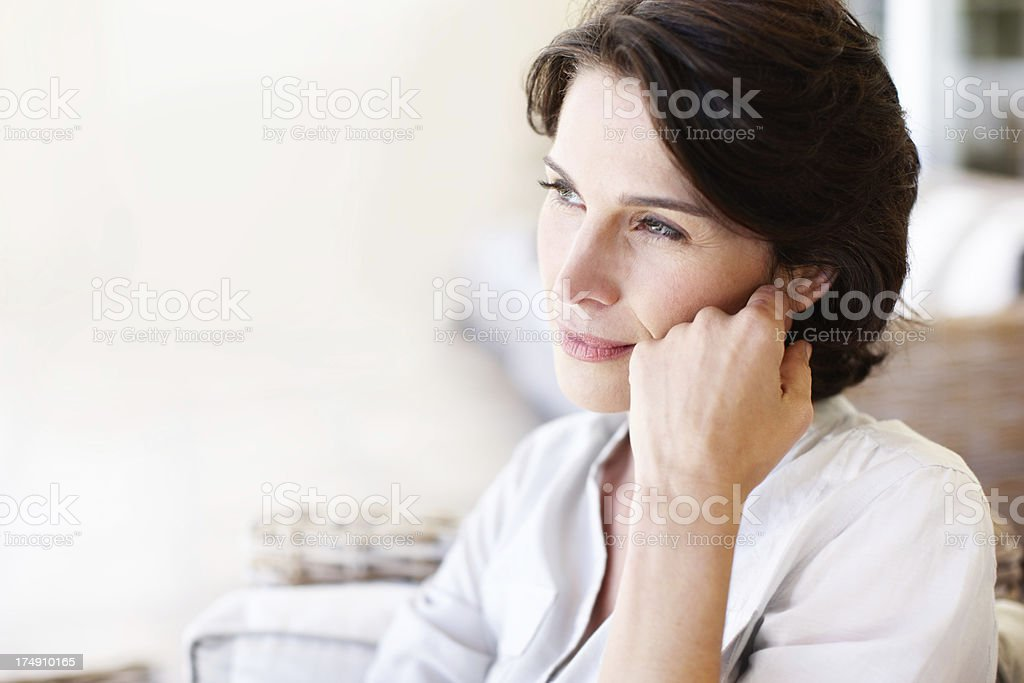 Thinking of a time past royalty-free stock photo