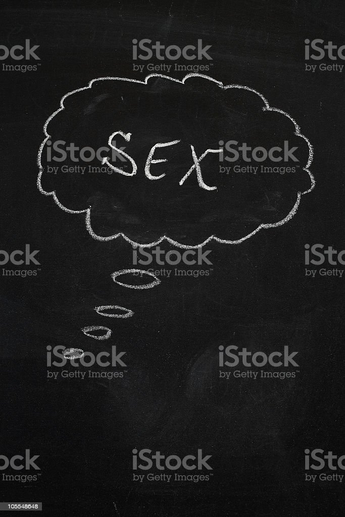 thinking of sex royalty-free stock photo