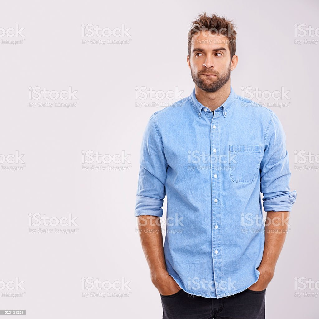 Thinking... stock photo