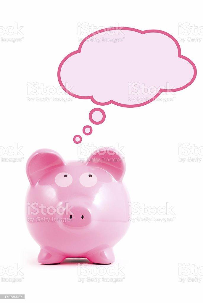 Thinking Piggy royalty-free stock photo