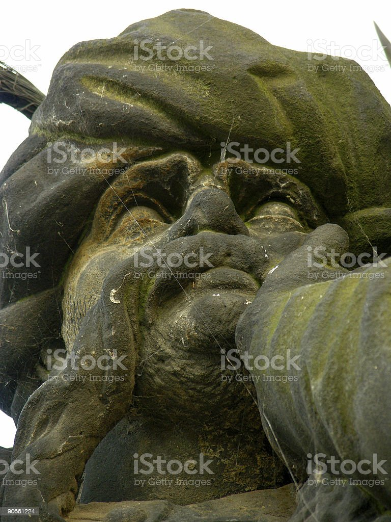 Thinking statue royalty-free stock photo