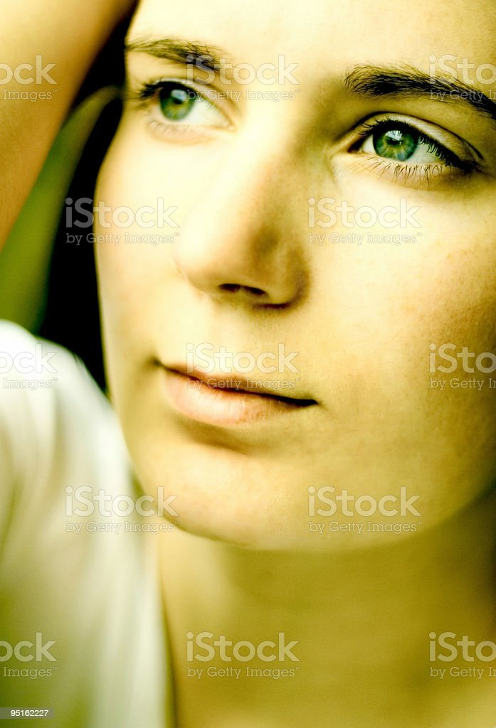 Thinking - very high contrast royalty-free stock photo