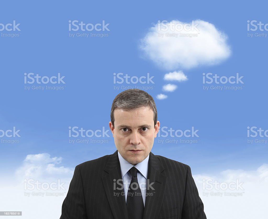 Thinking with Clouds royalty-free stock photo